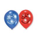 6 ballons en latex Cars 22,8 cm