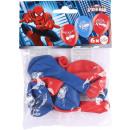 6 latex léggömbök Spider-Man 22.8 cm / 9 '