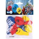 mayorista Regalos y papeleria: 6 globos de látex Avengers 22.8 cm