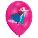 6 latex ballonnen frozen 4-kleuren 27,5 cm / 11 &#