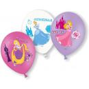 6 latex ballon hercegnő 4 színű 27,5 cm / 11 '