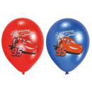 6 latex balloons Cars four-color printed 27.5 cm