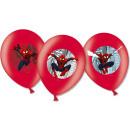 6 latex ballonnen Spider-Man 4-gekleurd 27,5 cm /