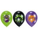 6 latex balloons Halloween Kids 22,8 cm / 9 '&