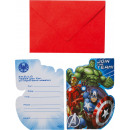 8 invitations Avengers with envelopes
