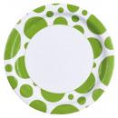 8 Tányér Kiwi Dots 23 cm