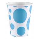 8 cups Carribean Blue Dots 266 ml