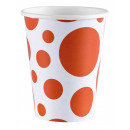 8 csésze Orange Peel Dots 266 ml