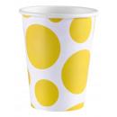 8 csésze Napfény Sárga Pontok 266 ml