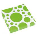 20 Servietten Kiwi Dots 33 x 33 cm