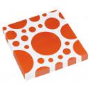20 Servietten Orange Peel Dots 33 x 33 cm