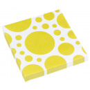 20 Servietten Sunshine Yellow Dots 33 x 33 cm