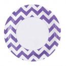 8 Teller New Purple Chevron 23 cm