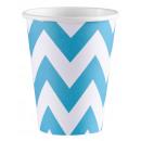 8 csésze Karib-kék Chevron 266 ml