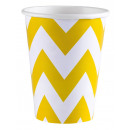 8 csésze Napfény Sárga Chevron 266 ml