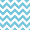 20 napkins Carribean Blue Chevron 33 x 33 cm