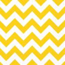 20 Servietten Sunshine Yellow Chevron 33 x 33 cm