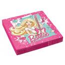 wholesale Party Items: 20 napkins Barbie Popstar 33 cm
