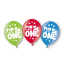 6 Latexballons Fun to be One Boy Globaldruck 27,5