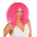 Wig pink crimped