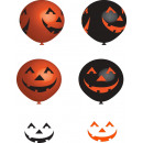 6 Latex Balloons Happy Pumpkin 27 cm / 11 '