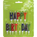 13 velas Letras de Happy Birthday