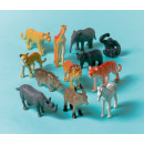 12 toy jungle animals made of plastic