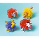 8 Zootiere Stacheln Plastik 7 x 4 x 4 cm
