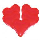 25 balonów lateksowych serce czerwone medium