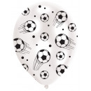 6 latex balloons global print football 27.5 cm / 1