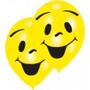 groothandel Buitenspeelgoed: 8 latex ballonnen Sunny Smile dubbelzijdig bedrukt