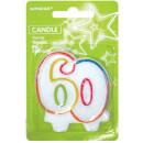 Number candle 60