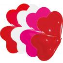 10 latex ballonnen harten klein, geassorteerd