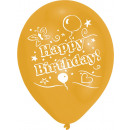 wholesale Food & Beverage: 8 latex balloons Happy Birthday printed on both si