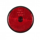 Reflector round red + hole 60 mm