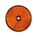 Reflektor kerek narancssárga + lyuk 60 mm-es