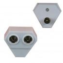 Coax splitter plastic radio 3-2060
