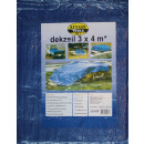 Tarpaulin 3x4 meters blue