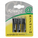 wholesale Batteries & Accumulators: Battery mini  penlite 4 pieces r3 aaa konnoc