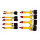 Paintbrushset 10 pieces flat