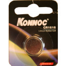 Button cell battery lithium cr 1616 konnoc