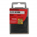 Hardware steel nails 2.0 x 40 mm black