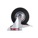 Svängbar hjul + broms 125 mm