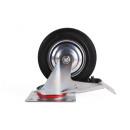 Svängbar hjul + broms 160 mm