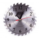 Wall clock circular saw / display