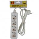 Extension socket 4 wattos + föld + 1,5 m BELLSON