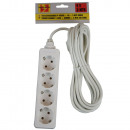 wholesale Electrical Installation: Extension socket 4 watt + earth + 5.0 m bellson