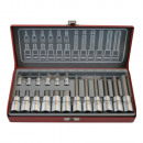 Hex key socket set 18 pieces chr volt 1/4-1/2''