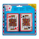 Playing cards 2 pieces on card