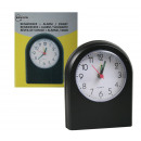 wholesale Home & Living: Travel alarm clock + alarm analogue / black